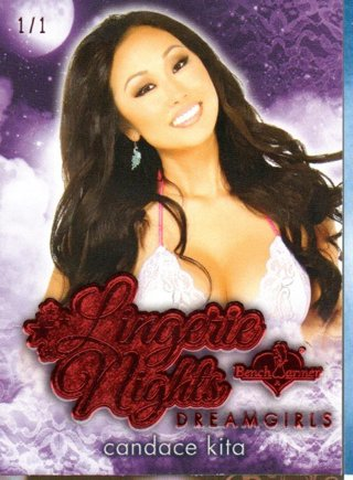 2017 Benchwarmer Candace Kita Dreamgirls Lingerie Nights Red 1/1
