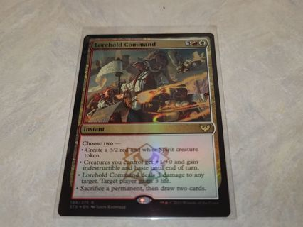 Magic the gathering mtg Lorehold Command foil rare card Strixhaven