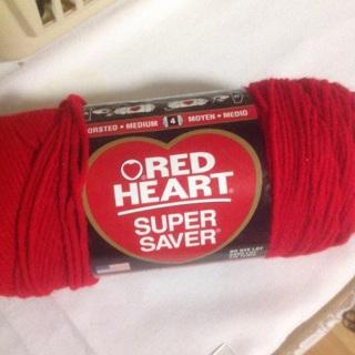 7 oz Cherry Red 100% Acrylic Yarn.