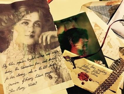 Handmade Victorian pen pal kits gift kits. Read more
