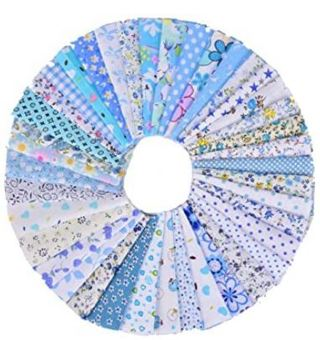 100 Pieces Cotton Fabric Colorful Fabric Bundles Sewing Square Fabric Scraps