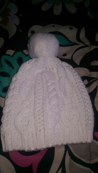 White infant hat