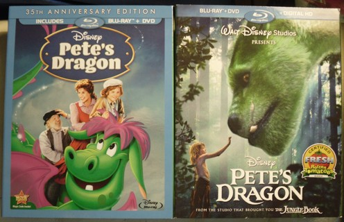 Walt Disney Productions PETE'S DRAGON Both Versions on Blu Ray & DVD