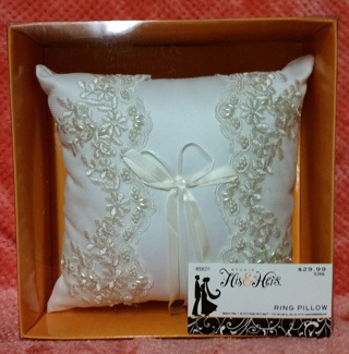 Wedding Ring Bearer's Pillow - New in Pkg