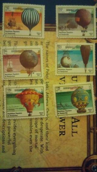 Cambodia 6 stamps 1983