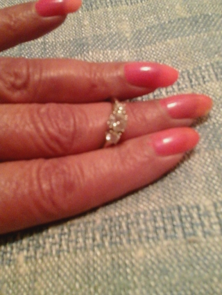 Gorgeous! Size8 925 Engagement style ring