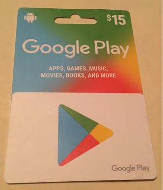15 dollar Google Play card