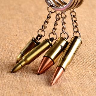 Fashion Antique Bronze Plated Bullet Keychain Metal Key Chain Souvenir Creative Gift Keyring