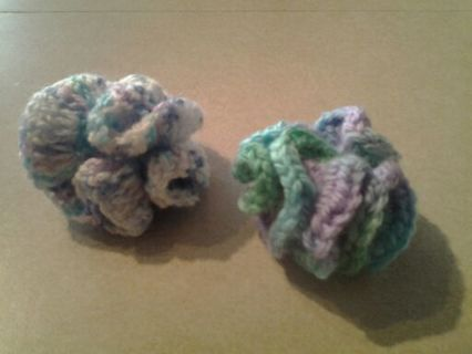 2 CAT TOYS HAND CROCHETED