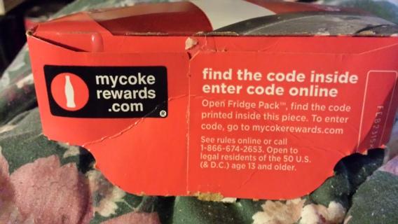 2 coca cola 12pk reward codes