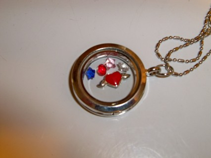 """FLOATING CHARM NECKLACE NEW 19"""" CHAIN"""