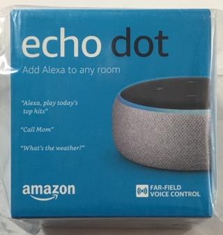 Amazon Echo Dot (3rd Gen/Latest Model) Alexa Smart Speaker Heather Gray - Brand New Factory Sealed!