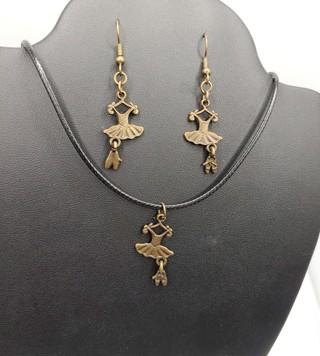 New Ballet Dance Matching Earrings Necklace Set
