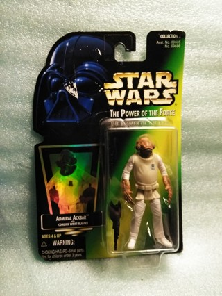Vintage 1997 Star Wars Admiral Ackbar Action Figure