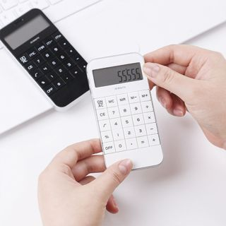 [GIN FOR FREE SHIPPING] Display Office Pocket Electronic Black White Digit Calculator