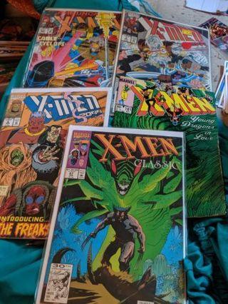 Lot of 5 Marvel X-Men Vintage Comic Books