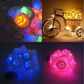 20-LED Rose Flower Fairy Wedding Garden Party Christmas Decor Xmas String Lights