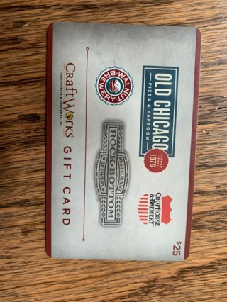 $25 craftworks-Restaurant and  Breweries gift card