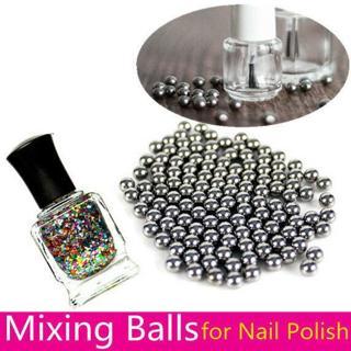 5mm Nail Art Stainless Steel Nail Polish Mixing Agitator Ball Manicure 20/100pcs