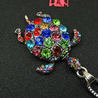 ✨Betsey Johnson Colorful Turtle Pendant Necklace -NEW