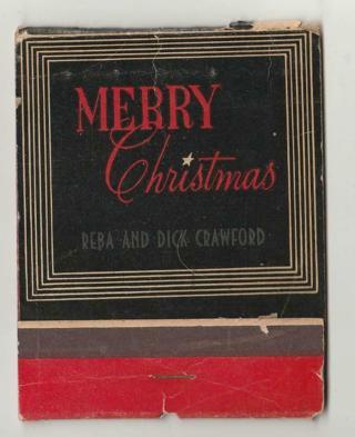 Vintage Hallmark Merry Christmas Matches