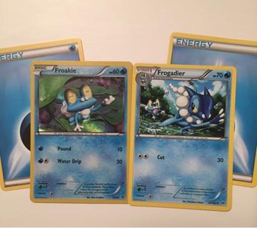 Holo Froakie & Frogadier Pokemon cards