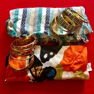 Pretty Summer Scarves & Matching Bracelets New Without Tags FREE SHIPPING
