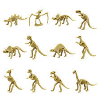 Mini Size Plastic Dinosaur Fossil Skeleton Simulation Model