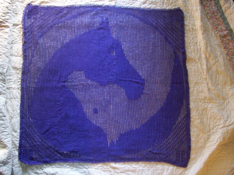 Free Large Yin Yang Horses Filet Crochet Pattern Only Crochet