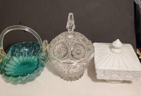 High End Depression/ Milkglass Decorative Lot Free Shipping