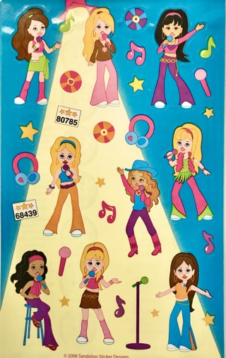 ☆※☆※☆NEW ITEM( REDUCED)!!! ♥♥11 SHEETS SANDYLION COLORFUL GIRLS STICKERS♥♥