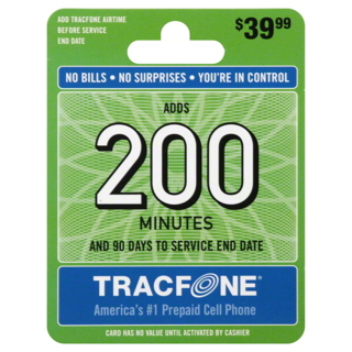 200 min refill card for tracfone