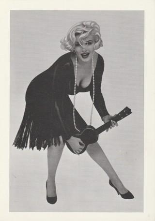 Vintage Unused Postcard: ~~~1959 Marilyn Monroe plays the Ukulele~~~