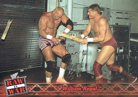 WWE WWF RAW Is WAR Fleer 2001 Collectible Facsimile Autograph Card #27 William Regal