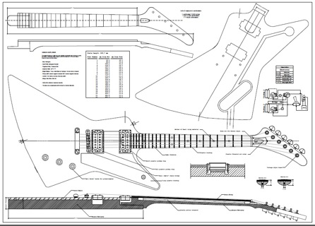 free explorer style guitar templates instruments accessories
