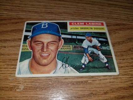 1956 Topps Baseball Clem Labine #295 Brooklyn Dodgers,VGEX condition,Free Shipping!