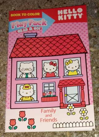 HELLO KITTY SMALL COLORING BOOK WITH 3 SHEETS OF STICKERS USE YOUR OWN CRAYONS