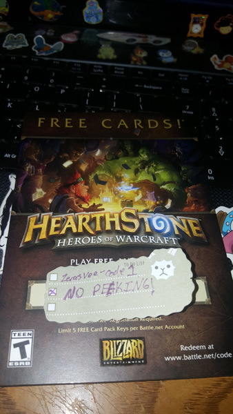 Free: Hearthstone free card pack #1 - Video Game Prepaid Cards