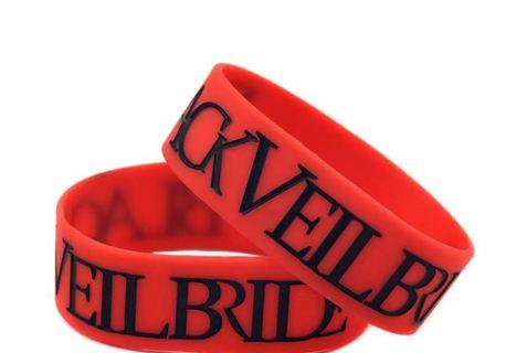 1 black veil brides Wrist Band Bracelet Music Band HOT TOPIC Emo Metal pop punk