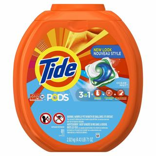 NEW Tide PODS Ocean Mist HE Turbo Laundry Detergent Pacs (81) Count Load Tub FREE SHIPPING