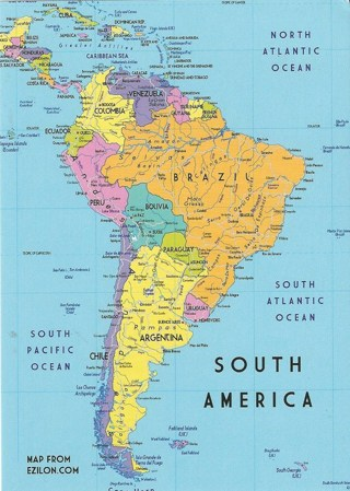 Free Map Of North America.Free Map Of South America Postcard Other Collectibles Listia