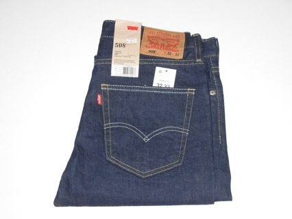 Levi 508 32x32 Regular Taper Fit Jeans New with tags