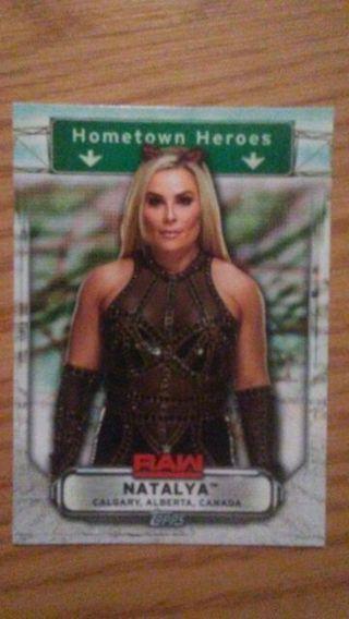 WWE 2019 Natalya Hometown Heroes Special Insert Card