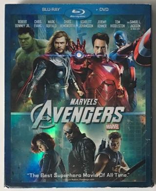 Marvel's Avengers (1st Movie) Blu-Ray/DVD 2-Disc Combo Pack w/Slipcover + Bonus Disc NM to MT Discs