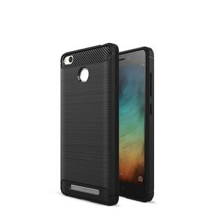 Carbon Fiber Soft Silicone TPU Case Cover For Xiaomi Redmi 3/3S/3S Pro/3S Prime