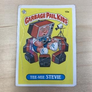 Garbage Pail Kids Series 1: Tee-Vee Stevie #10a