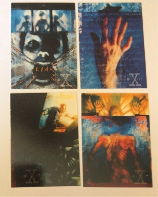 4x The X-Files Season 2 Trading Cards 1996