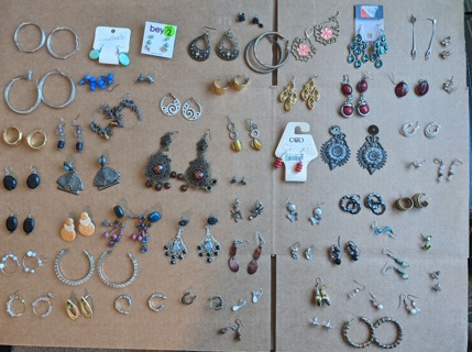 Lot of 50+ Earrings