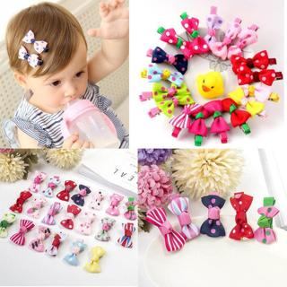 10Pcs Hot Lovely Toddler Girl Hair Clip Ribbon Bow Baby Kids Bowknot Headband