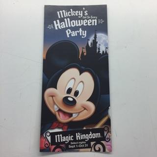 Disney Mickey's Halloween party brochure